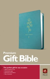 NLT Premium Gift Bible--soft  leather-look, teal
