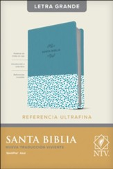 NTV Santa Biblia Edicion de  referencia ultrafina, Letra Grande, Leatherlike, Blue, Indexed, NTV Large-Print Slimline Reference Bible--soft leather-look, blue (indexed)