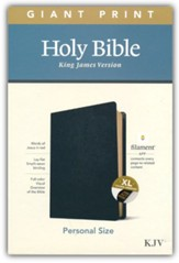 KJV Giant-Print Personal-Size Bible,  Filament Enabled Edition--genuine leather, black (indexed)