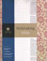 HCSB Notetaking Bible, Red Floral  Cloth