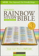 NIV Rainbow Study Bible, Cocoa, Terra Cotta, and Ochre LeatherTouch