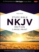 NKJV Holman Study Bible: Large Print, Dark Teal LeatherTouch Thumb-Indexed - Imperfectly Imprinted Bibles