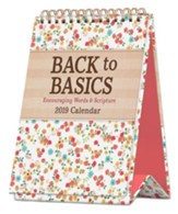 2019 Back to Basics, Desktop Calendar