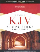 KJV Holman Study Bible Large Print Edition, Dark Teal LeatherTouch