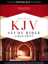 KJV Study Bible Large Print Edition, Dark Teal LeatherTouch, Thumb-Indexed - Imperfectly Imprinted Bibles
