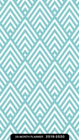2019-2020 Teal Chevron, 28 Month Planner