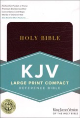KJV Large Print Personal Size Reference Bible, Burgundy - Slightly Imperfect