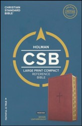 CSB Large Print Compact Reference Bible, Brown LeatherTouch, Thumb-Indexed