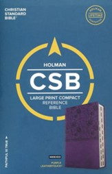 CSB Large Print Compact Reference Bible, Purple LeatherTouch, Thumb-Indexed