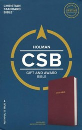 CSB Gift & Award Bible, Burgundy Imitation Leather