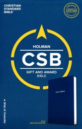 CSB Gift & Award Bible, Blue Imitation Leather