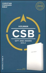CSB Gift & Award Bible, White Imitation Leather - Slightly Imperfect