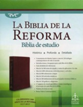 Biblia de Estudio de la Reforma RVC, Piel Gen. Marrón  (RVC Reformation Study Bible, Gen. Leather, Brown)