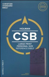 CSB Large Print Personal Size  Reference Bible, Purple LeatherTouch - Slightly Imperfect