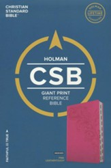 CSB Giant Print Reference Bible, Pink LeatherTouch, Thumb-Indexed