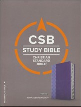 CSB Study Bible, Purple LeatherTouch, Thumb-Indexed - Imperfectly Imprinted Bibles