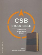 CSB Study Bible, Mahogany LeatherTouch, Thumb-Indexed