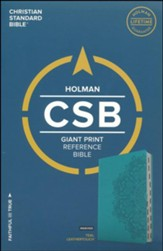 CSB Giant Print Reference Bible, Teal LeatherTouch, Thumb-Indexed - Slightly Imperfect
