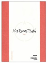 CSB She Reads Truth Bible, Poppy Linen, Thumb-Indexed  - Slightly Imperfect