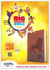 The CSB Big Picture Interactive Bible, Lion LeatherTouch - Imperfectly Imprinted Bibles