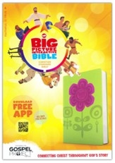The CSB Big Picture Interactive Bible, Flowers LeatherTouch - Imperfectly Imprinted Bibles