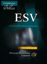 ESV Clarion Reference Bible, Calf Split leather, black