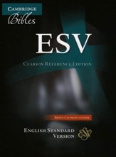 ESV Clarion Reference Bible, Calfskin leather, brown