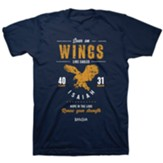 Soar on Wings Like Eagles Shirt, Navy Blue, Small
