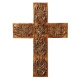 Leafed Wall Cross, Gold
