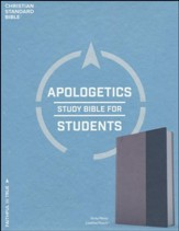 CSB Apologetics Study Bible for Students, Gray and Navy LeatherTouch