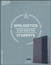CSB Apologetics Study Bible for Students, Gray and Navy LeatherTouch, Thumb-Indexed