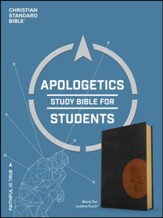 CSB Apologetics Study Bible for Students, Black and Tan LeatherTouch