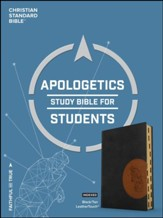 CSB Apologetics Study Bible for Students, Black and Tan LeatherTouch, Thumb-Indexed - Imperfectly Imprinted Bibles
