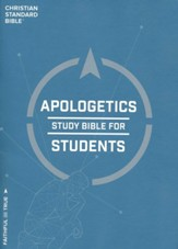 CSB Apologetics Study Bible for Students, Softcover