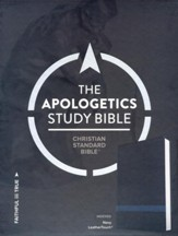 CSB Apologetics Study Bible, Navy LeatherTouch, Thumb-Indexed
