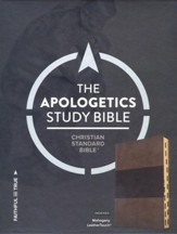 CSB Apologetics Study Bible, Mahogany LeatherTouch, Thumb-Indexed