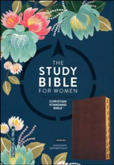 The CSB Study Bible for Women, Chocolate LeatherTouch, Thumb-Indexed - Imperfectly Imprinted Bibles