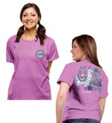 No Prob Llama Is Too Big For Jesus Tee, Heather Radiant Orchid, X-Large