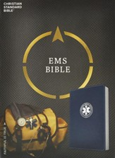 CSB Emergency Medical Services Bible, Navy LeatherTouch - Imperfectly Imprinted Bibles
