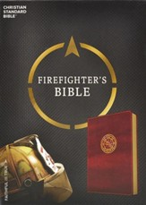CSB Firefighter's Bible, Burgundy LeatherTouch - Imperfectly Imprinted Bibles