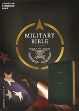 CSB Military Bible, Green LeatherTouch for Soldiers