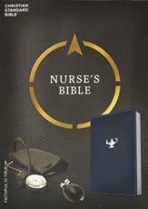 CSB Nurse's Bible, Navy LeatherTouch - Imperfectly Imprinted Bibles