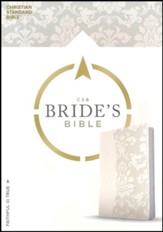 CSB Bride's Bible, White  LeatherTouch