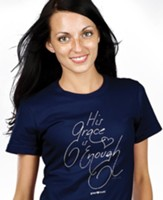 His Grace is Enough Shirt, Navy Blue, XX-Large