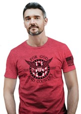 For God and Country Shirt, Heather Red, 2X-Large