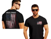 Hold Fast, Flag, Shirt, Black, 3X-Large