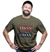 Iron Sharpens Iron Shirt, Military Green, Large
