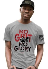 No Grit No Glory Shirt, Storm Grey, 2X-Large