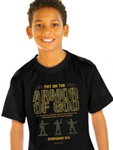 Armor of God Shirt, Black, Youth Large