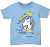 Totally Unique, Unicorn, Shirt, Light Blue, Toddler 3T